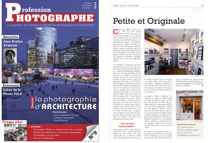 Galerie Photo-Originale - magazine Profession photographe