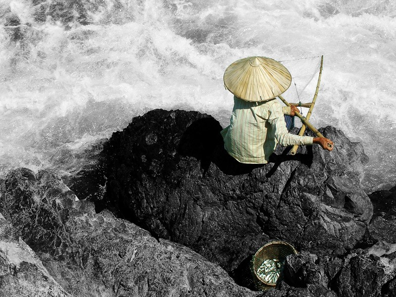 """""""Pêcheur dans le Mékong"""""""